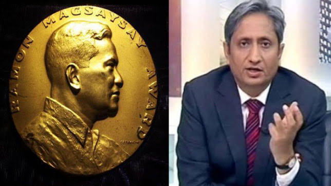 रवीश कुमार को रैमन मैगसायसाय पुरस्कार….!!
