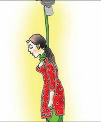 संदिग्ध : फंदे पर लटका मिला महिला का शव।