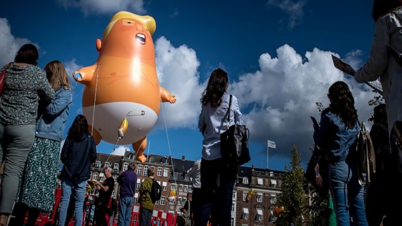 डेनमार्क में ट्रम्प के ख़िलाफ़ ज़बरदस्त प्रदर्शन !!