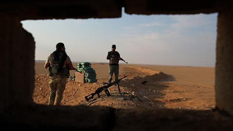 हश्दुश शाबी, इराक़-सीरिया सीमा पर हवाई हमला, 18 हताहत