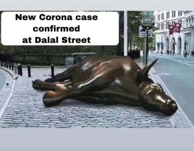 कोरोना के क़हर से शेयर बाजार ढेर, निवेशकों के 11 लाख करोड़ रुपये डूबे