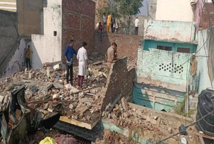 मेरठ में गैस सिलेंडर फटने से तेज धमाके के साथ दो मंजिला इमारत ढही, हादसे में कांग्रेस नगर अध्यक्ष की मौत