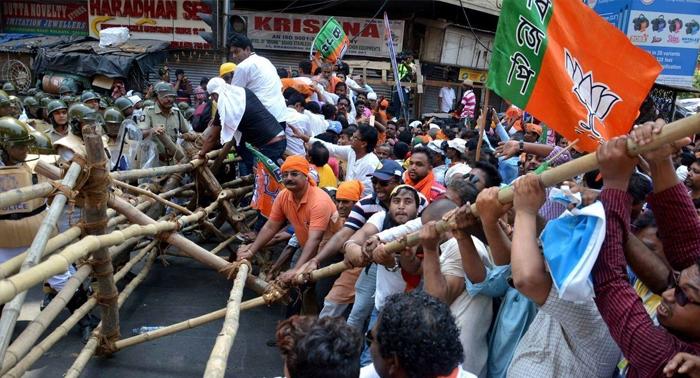 BJP की राजनीति पश्चिम बंगाल में चरम पर, हत्या के खिलाफ बीजेपी उतरी सड़क पर