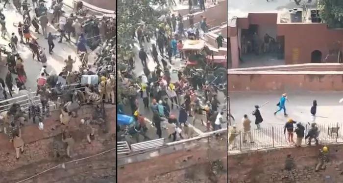 पुलिस ने 15 फुट उँची दीवार से कूदकर बचायी जान