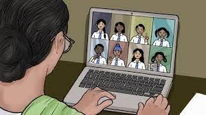 ऑनलाइन क्लासेस में टीचर ने बच्चों को कोरोना पर निबंध लिखने को बोला। – वायरल पोस्ट
