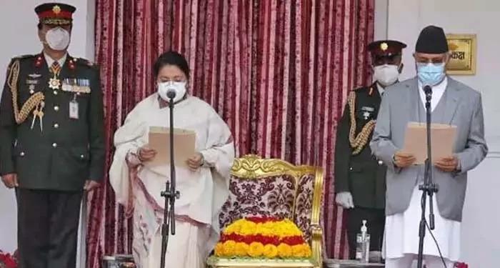 तीसरी बार केपी ओली ने नेपाल के पीएम पद की ली शपथ