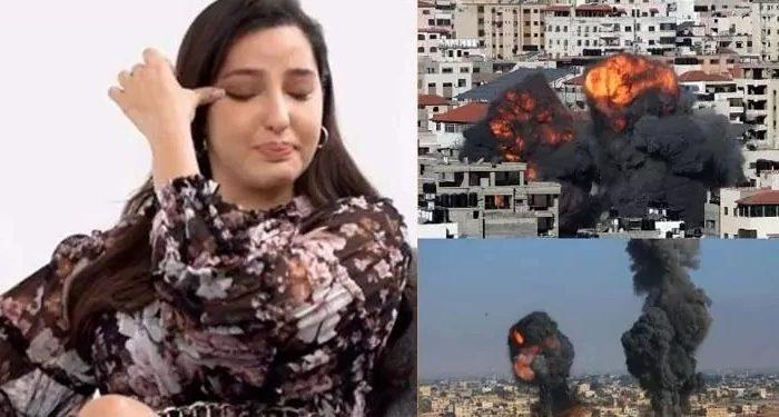 नोरा फतेही ने फिलिस्तीनियों पर इज़राइल के हमलों को बताया अमानवीय