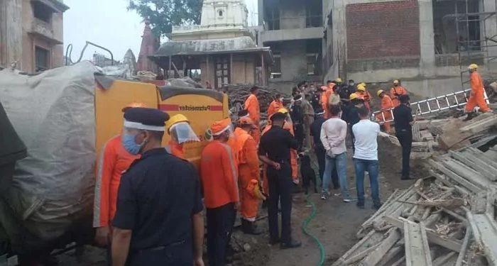 काशी विश्वनाथ धाम के परिसर में गिरा दो मंजिला भवन, हुई दो मजदूरों की मौत
