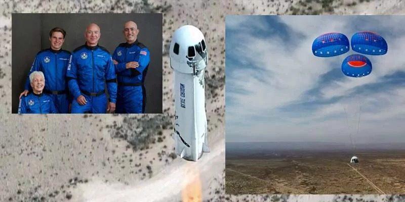 अमेजन के फाउंडर जेफ बेज़ोस अंतरिक्ष को छूकर धरती पर लौटे सुरक्षित