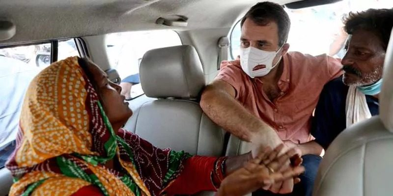 राहुल ने दिल्ली नाबालिग रेप मामला में पीड़ित परिवार से की मुलाक़ात